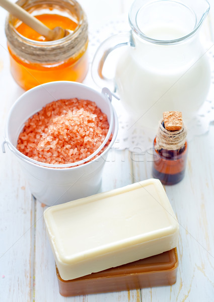 aroma soap and salt Stock photo © tycoon