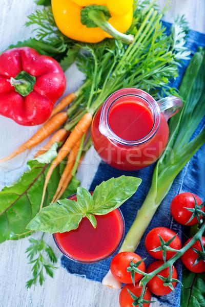 Stock fotó: Zöldség · dzsúz · üveg · asztal · levél · zöld