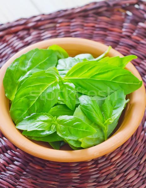Friss bazsalikom étel levél kert egészség Stock fotó © tycoon