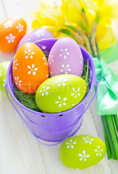 Huevos de Pascua Pascua textura primavera diseno huevo Foto stock © tycoon