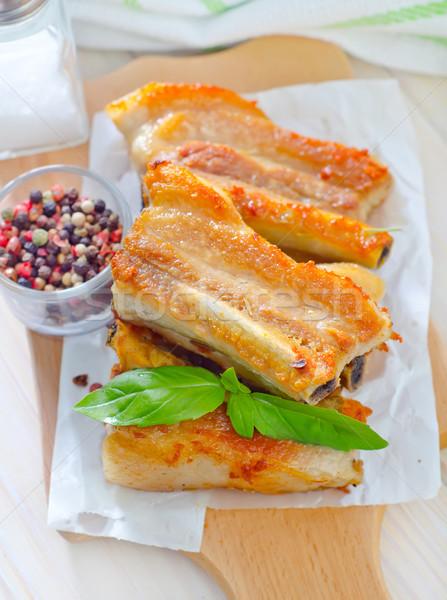 Sült hús étel nyár tányér élet Stock fotó © tycoon