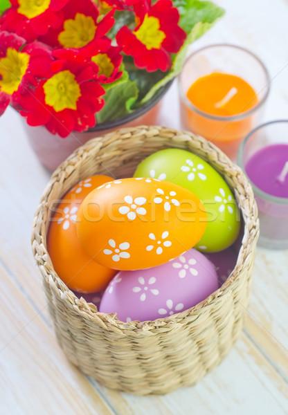 Húsvéti tojások húsvét tavasz terv doboz űr Stock fotó © tycoon