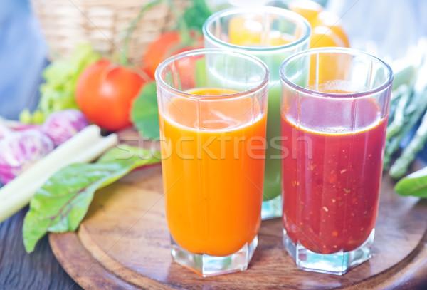 растительное сока стекла таблице продовольствие коктейль Сток-фото © tycoon