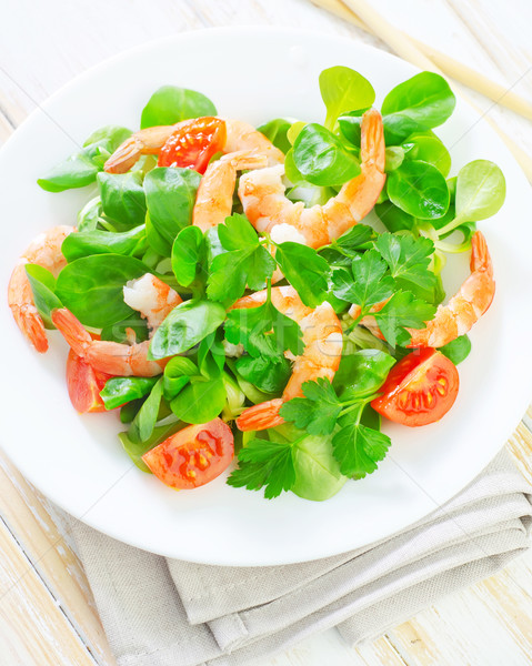 salad with shrimps Stock photo © tycoon