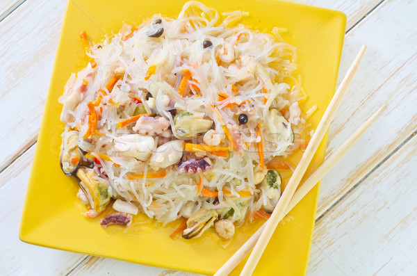 rice noodle with sefood Stock photo © tycoon