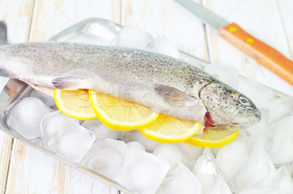 raw trout Stock photo © tycoon