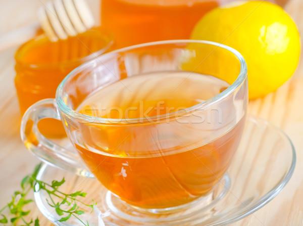 свежие чай фон зеленый пить листьев Сток-фото © tycoon