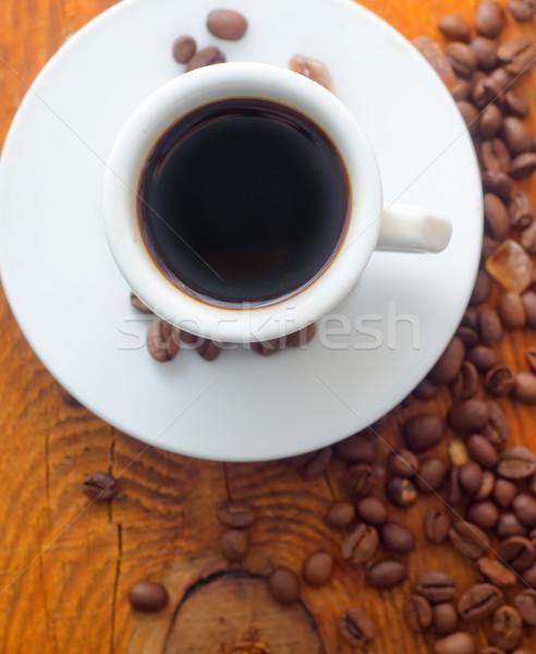 Fresche aroma caffè bianco Cup cannella Foto d'archivio © tycoon