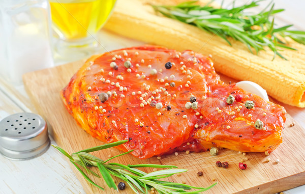 raw steak and aroma spice Stock photo © tycoon