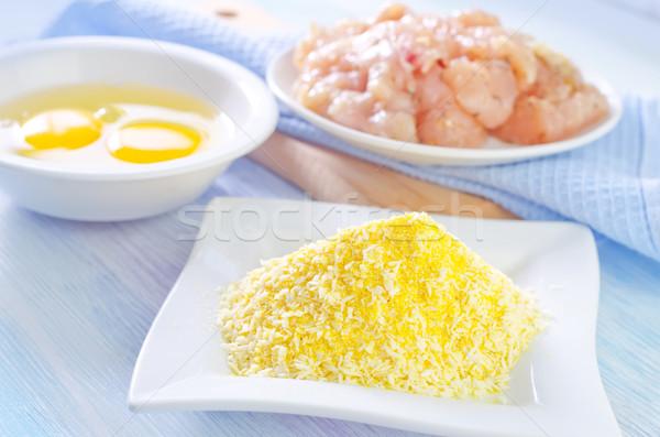 Ingredientes comida frango branco cozinhar saudável Foto stock © tycoon