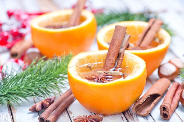 оранжевый пить свежие оранжевый плод таблице фрукты Сток-фото © tycoon
