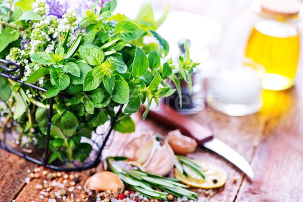 свежие травяной аромат Spice таблице цветок Сток-фото © tycoon