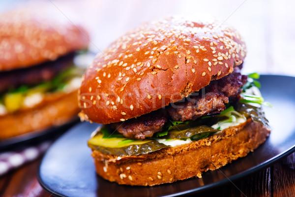 burgers Stock photo © tycoon