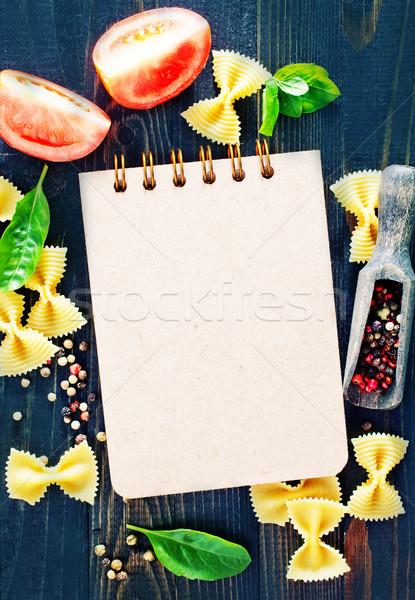 Сток-фото: блокнот · аромат · Spice · таблице · бумаги · продовольствие