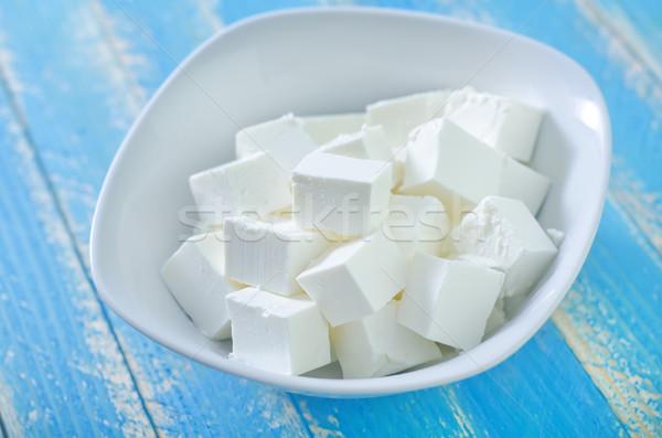フェタチーズ 食品 背景 表 サラダ 脂肪 ストックフォト © tycoon