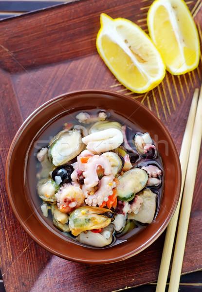 морепродуктов продовольствие свет здоровья листьев нефть Сток-фото © tycoon
