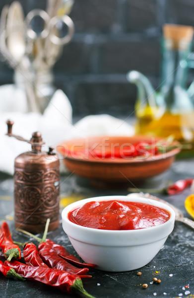 чили соус Spice таблице продовольствие кухне Сток-фото © tycoon