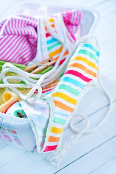 Tkaniny shirt podziale koszyka sukienka tkaniny Zdjęcia stock © tycoon