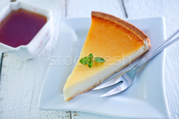 Cheesecake sweet plaque alimentaire fruits Photo stock © tycoon