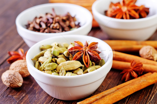 Сток-фото: аромат · Spice · чаши · таблице · текстуры · продовольствие