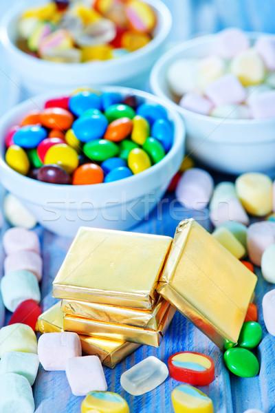 Kolor candy puchar tabeli tekstury owoców Zdjęcia stock © tycoon