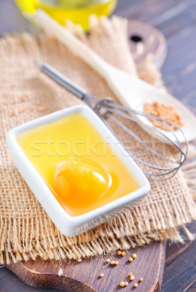Malzemeler mayonez gıda yağ akşam yemeği yağ Stok fotoğraf © tycoon