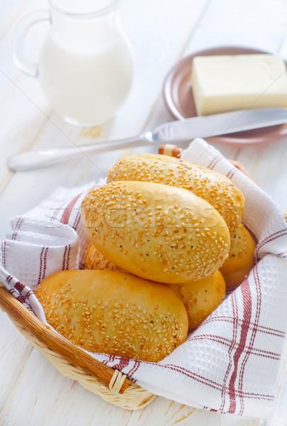 朝食 パン 生活 ナイフ 脂肪 食べ ストックフォト © tycoon