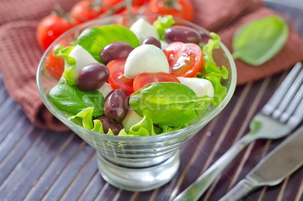Капрезе фрукты нефть Салат томатный оливкового Сток-фото © tycoon