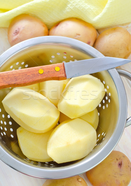 raw potato Stock photo © tycoon