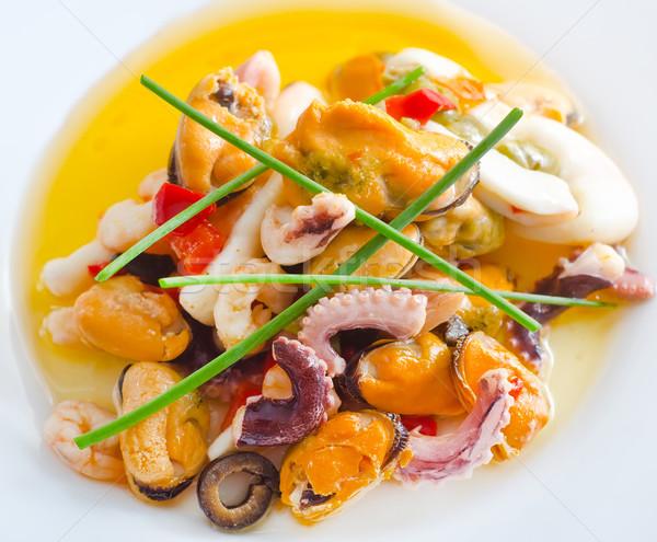 Foto d'archivio: Insalata · frutti · di · mare · pesce · mare · salute · ristorante