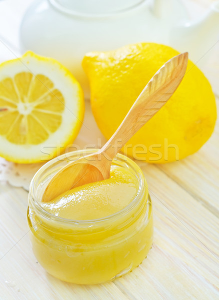 Honing citroenen hout natuur vruchten tarwe Stockfoto © tycoon