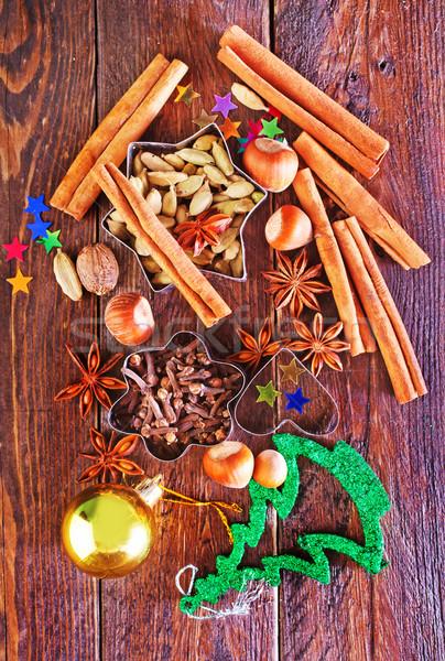 Stok fotoğraf: Lezzet · baharat · Noel · kurabiye · tablo · turuncu