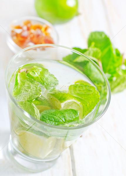 Mojito fruto verde bar coquetel bebidas Foto stock © tycoon
