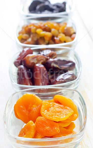 Secas passas de uva datas comida fruto fundo Foto stock © tycoon