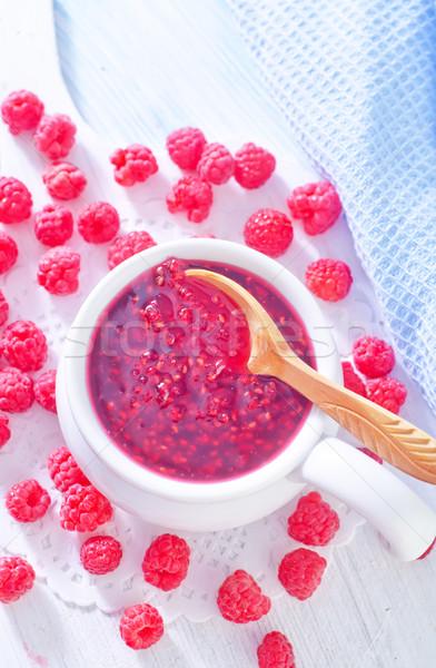 raspberry jam Stock photo © tycoon