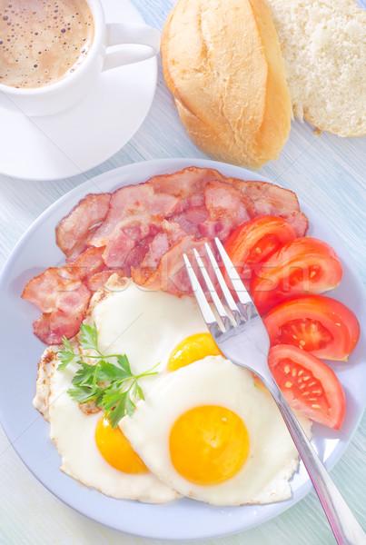 Kahvaltı bar ekmek içmek kırmızı hayat Stok fotoğraf © tycoon