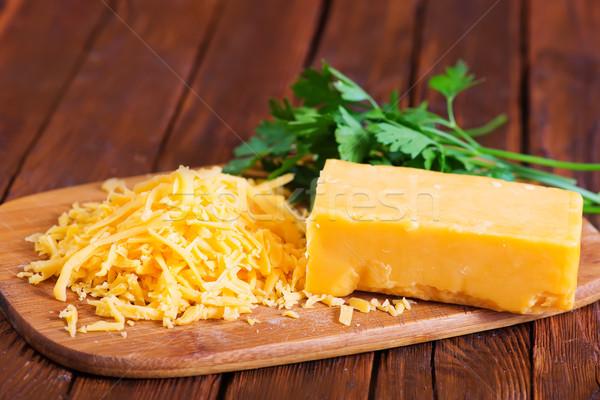 çedar peynir tahta tablo turuncu yağ Stok fotoğraf © tycoon