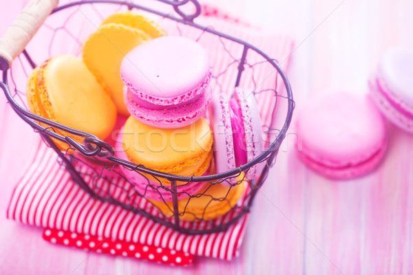 Color macaroons Stock photo © tycoon