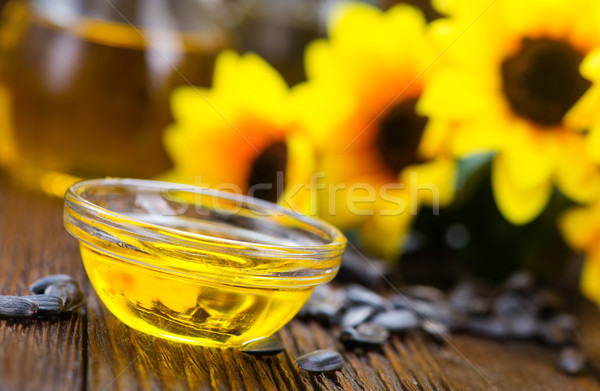 óleo de girassol girassol sementes tabela textura comida Foto stock © tycoon