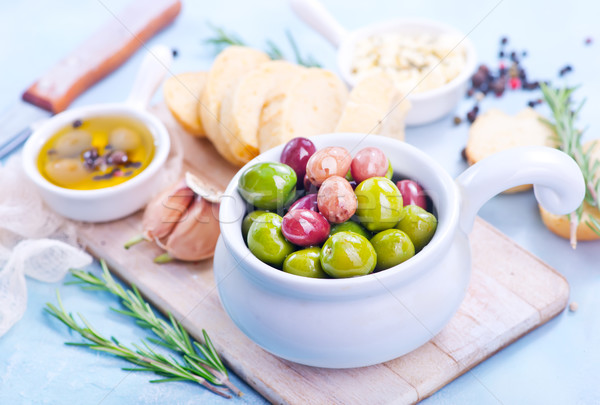 olives and bread Stock photo © tycoon