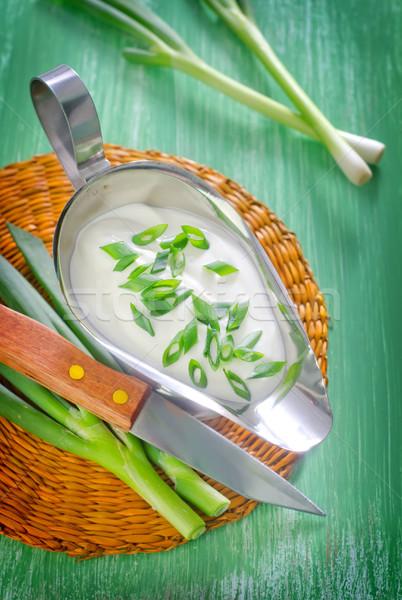 Zure room ui vis groene vlees witte Stockfoto © tycoon