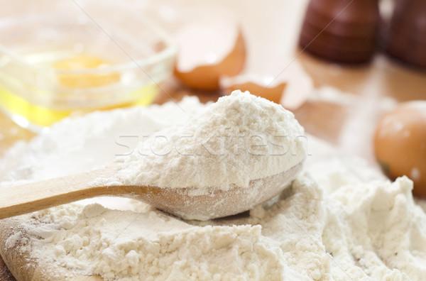 мучной яйцо кухне хлеб белый приготовления Сток-фото © tycoon