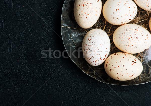 raw chicken eggs Stock photo © tycoon