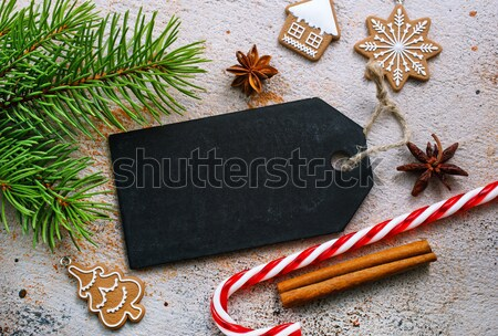 Рождества Cookie продовольствие вино сердце зима Сток-фото © tycoon