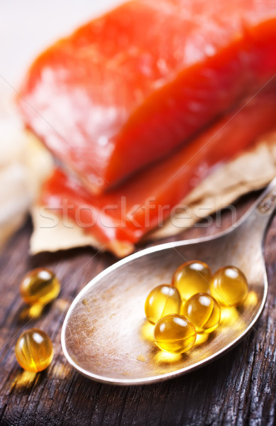 fish and capsules Stock photo © tycoon