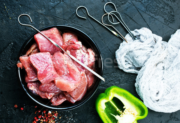 raw meat for kebab Stock photo © tycoon
