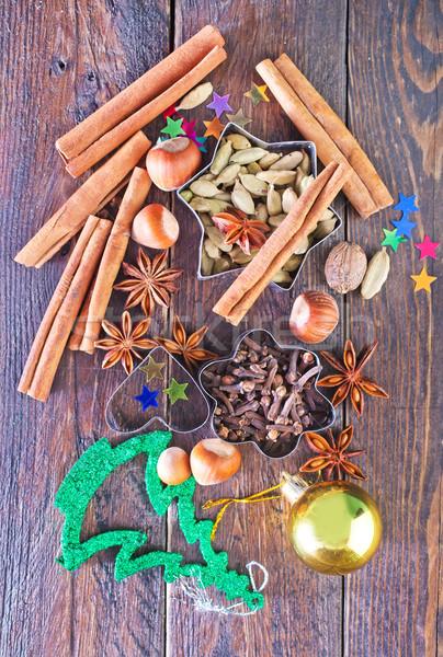 аромат Spice Рождества Cookies таблице оранжевый Сток-фото © tycoon