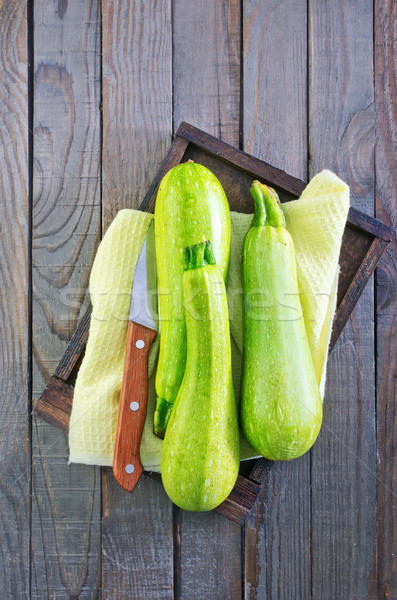 Zucchini Holz Fach Tabelle Sommer Stock foto © tycoon