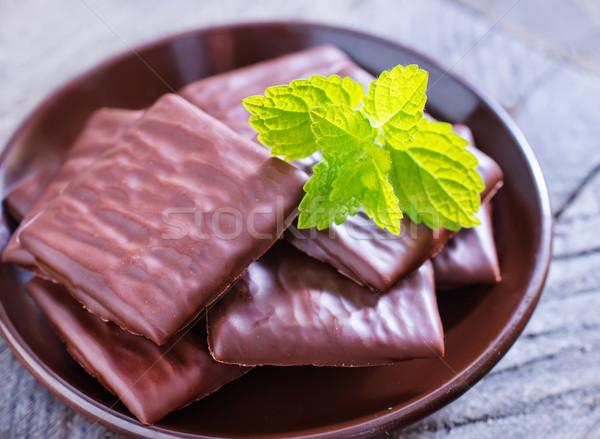 çikolata doku gıda yeşil süt şeker Stok fotoğraf © tycoon