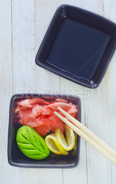 Stock photo: ginger and wasabi